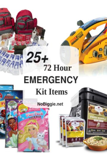 25+ 72 Hour Emergency Kit Items