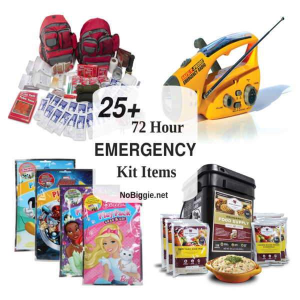 25+ 72 Hour Emergency Kit Items | NoBiggie.net