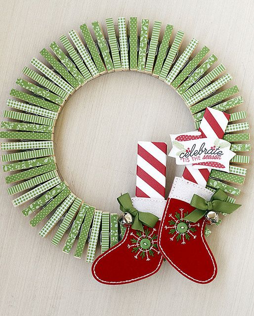 Clothes Pin Wreath | 25+ MORE Beautiful Christmas Wreaths