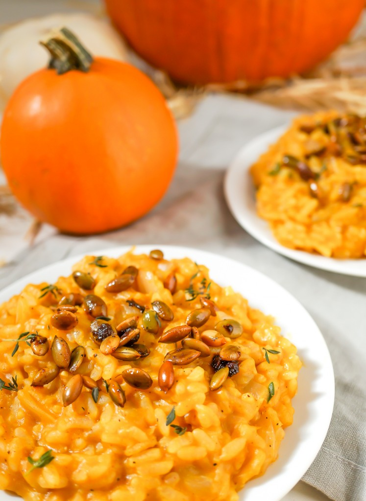 Creamy Vegan Pumpkin Risotto | 25+ Savory Pumpkin Recipes