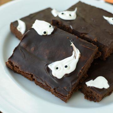 sheet pan ghost brownies   NoBiggie.net