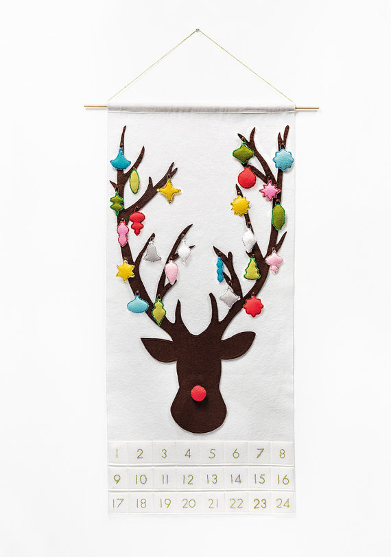 Felt Rudolph Advent Calendar | 25+ More Christmas Advent Calendars