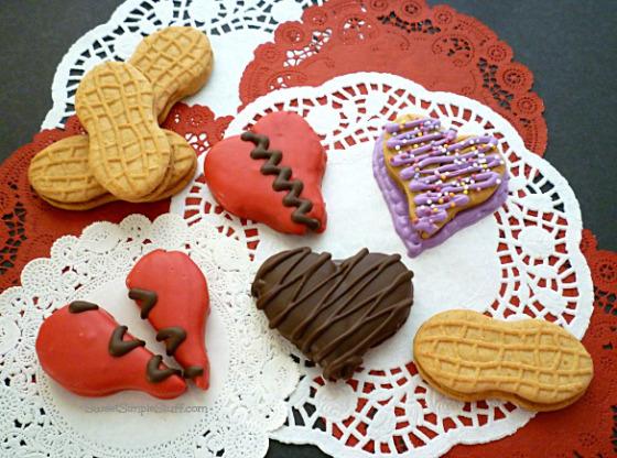 Heart Nutter Butter Cookies   25+ Creative Nutter Butter Cookies