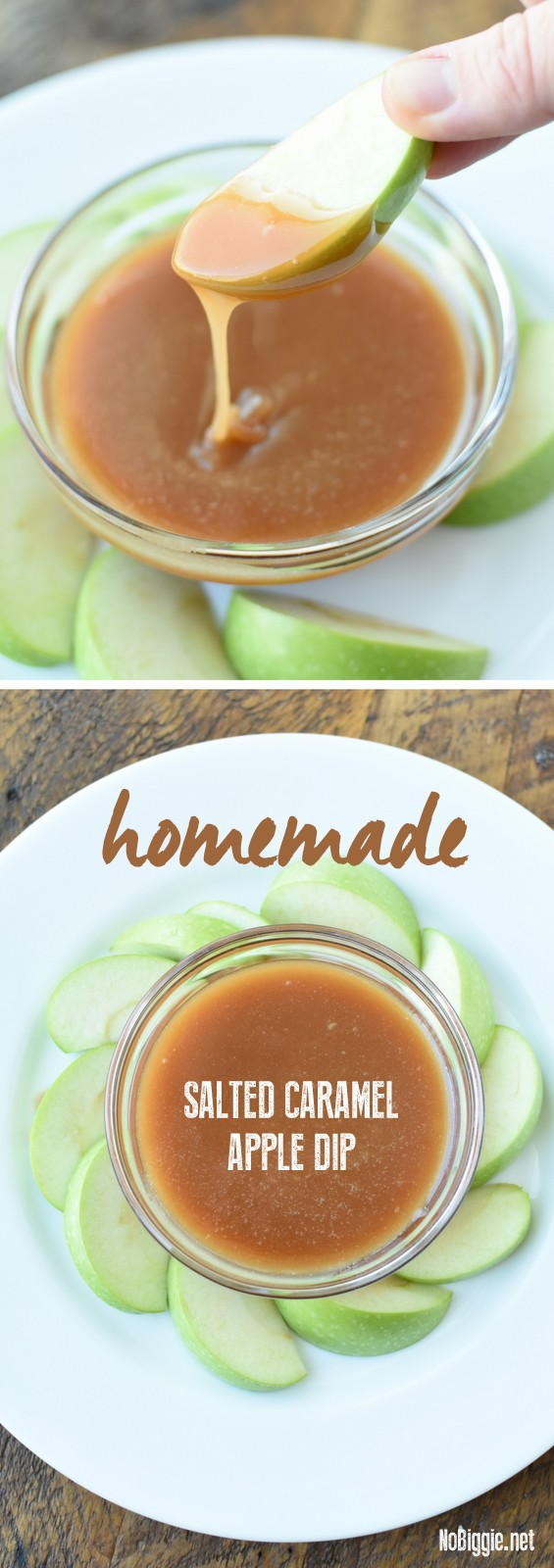 Homemade Salted Caramel Apple Dip | NoBiggie.net