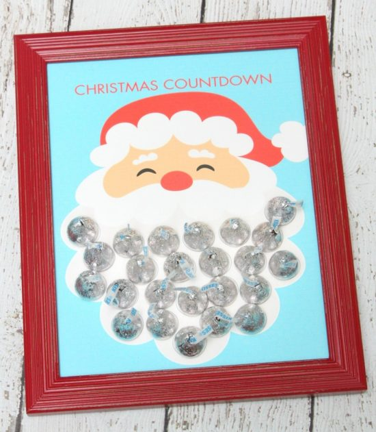 Kisses Santa Advent Calendar | 25+ MORE Christmas Advent Calendars