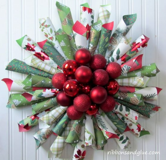 Paper Cone Wreaths | 25+ MORE Beautiful Christmas Wreaths