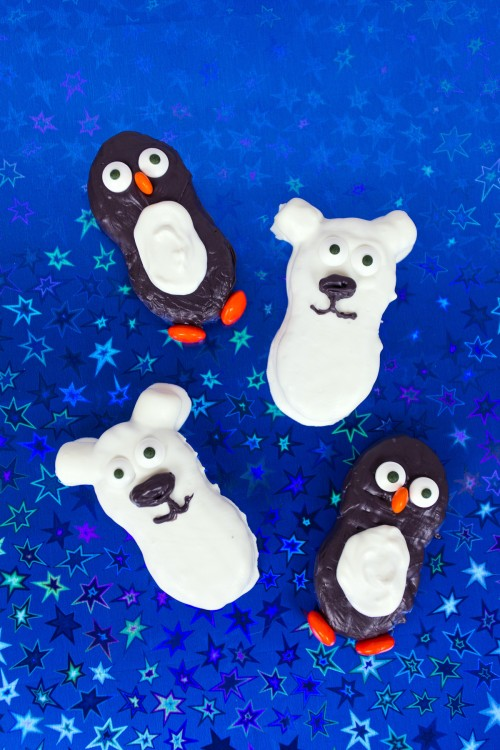 Penquins and Polar Bears Nutter Butter Cookies | 25+ Creative Nutter Butter Cookies