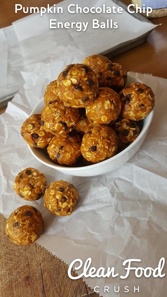 Pumpkin Chocolate Chip Energy Balls | 25+ More Sweet Pumpkin Recipes