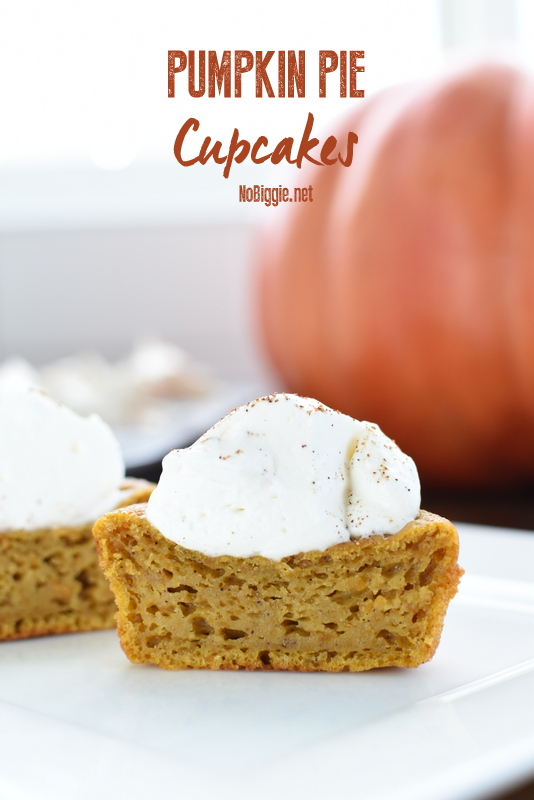 Pumpkin Pie Cupcakes | 25+ More Sweet Pumpkin Recipes