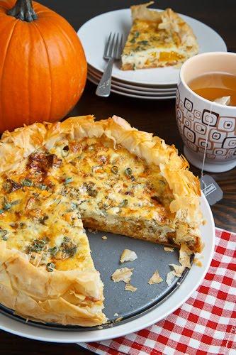Roasted Pumpkin Quiche | 25+ Savory Pumpkin Recipes