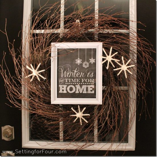 Rustic Twig Wreath | 25+ MORE Beautiful Christmas Wreaths
