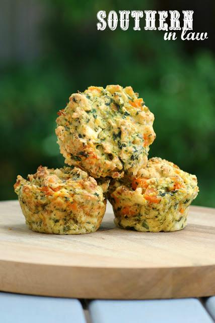 Savoury Pumpkin, Spinach and Feta Muffins | 25+ Savory Pumpkin Recipes