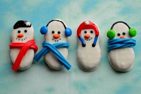 Snowman Nutter Butter Cookies | 25+ Creative Nutter Butter Cookies
