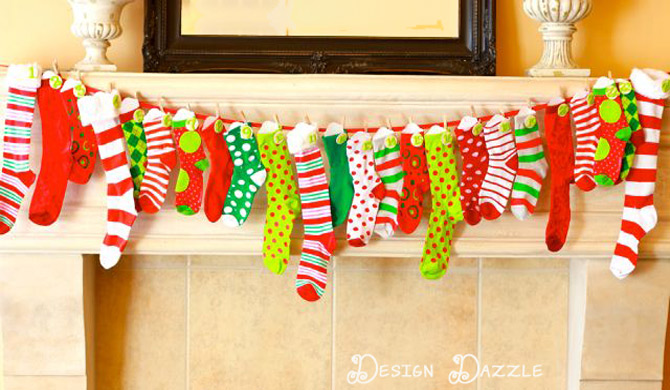 Sock Advent Calendar | 25+ MORE Christmas Advent Calendars