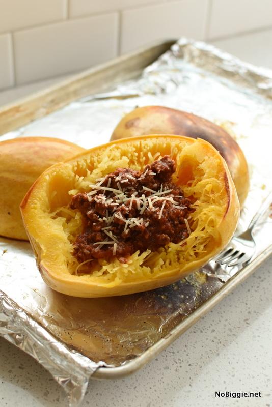 Spaghetti Squash Spaghetti | NoBiggie.net