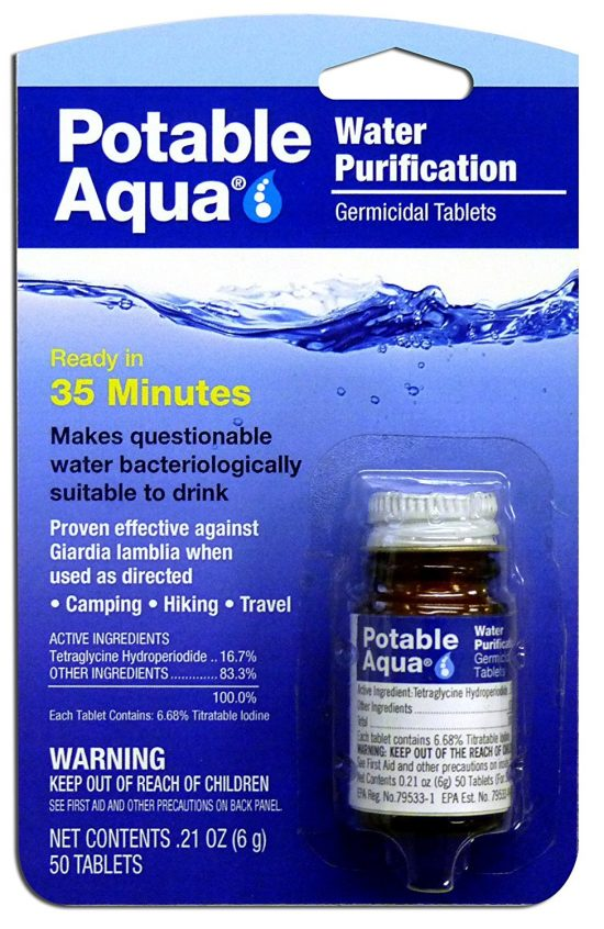Water Purification Tablets | 25+ 72 Hour Emergency Kit Items