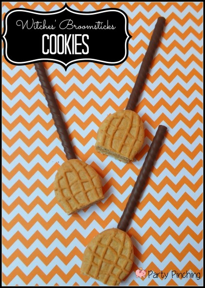 Witches Broom Cookies   25+ Creative Nutter Butter Cookies