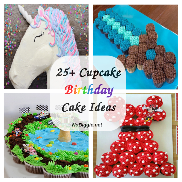 25+ Cupcake Birthday Cake Ideas | NoBiggie.net