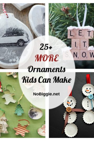 25+ MORE Ornaments Kids Can Make