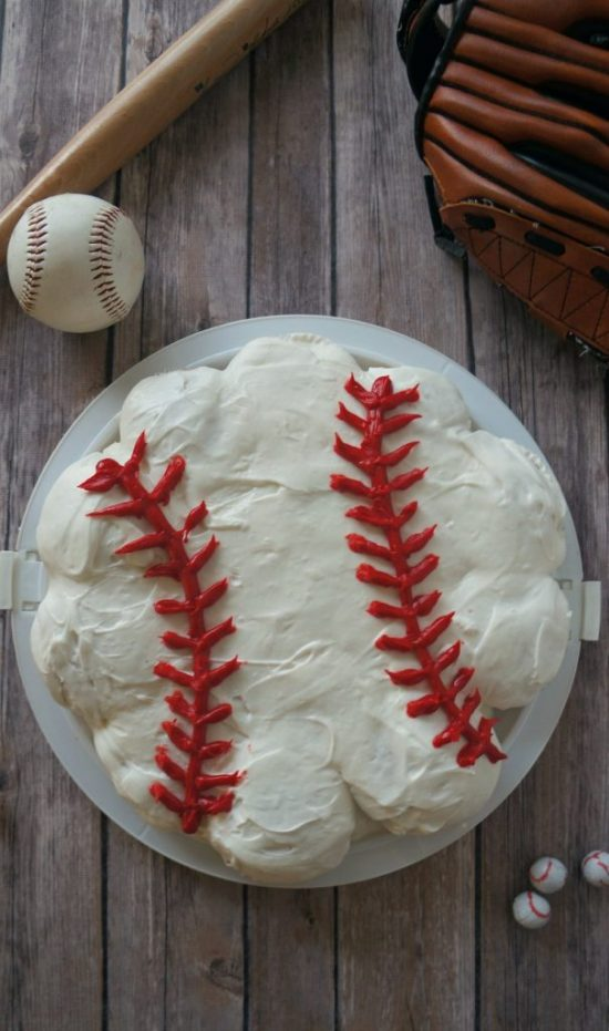 Baseball Cupcake Cake | 25+ Cupcake Birthday Cake Ideas