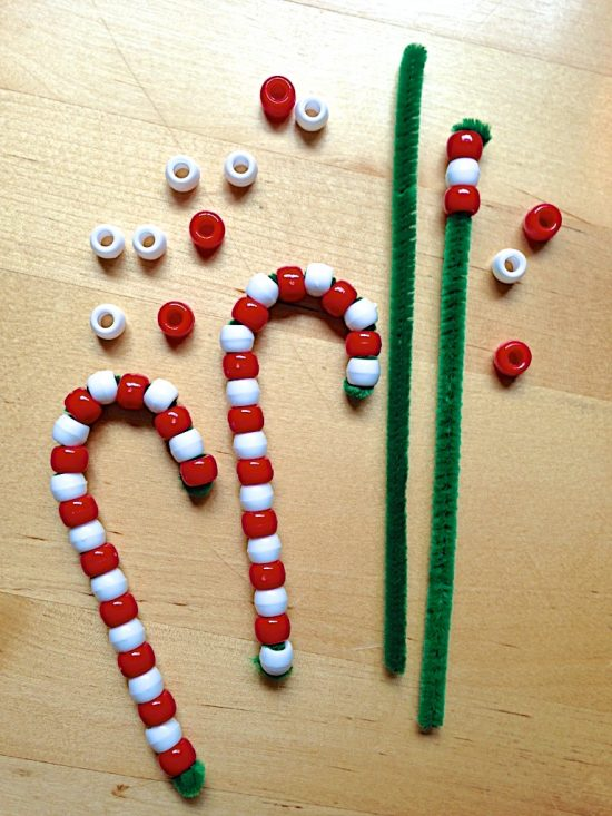 Beaded Candy Cane Ornaments | 25+ MORE Ornaments Kids Can Make