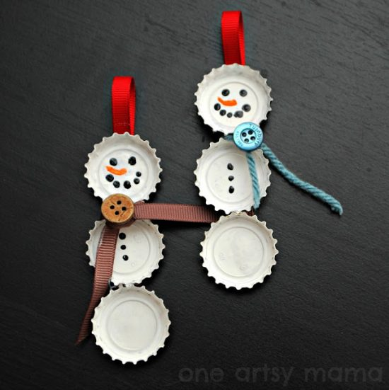Bottle Cap Ornaments | 25+ MORE Ornaments Kids Can Make