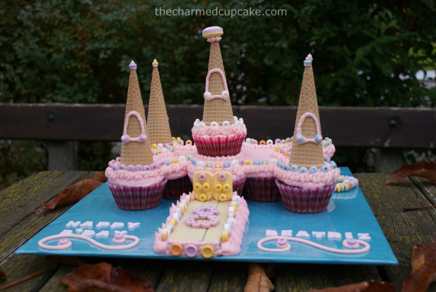 Cupcake Castle Cake | 25+ Cupcake Birthday Cake Ideas