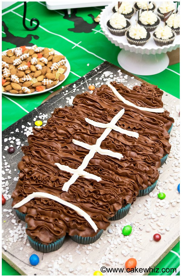 Football Cupcake Cake | 25+ Cupcake Birthday Cake Ideas