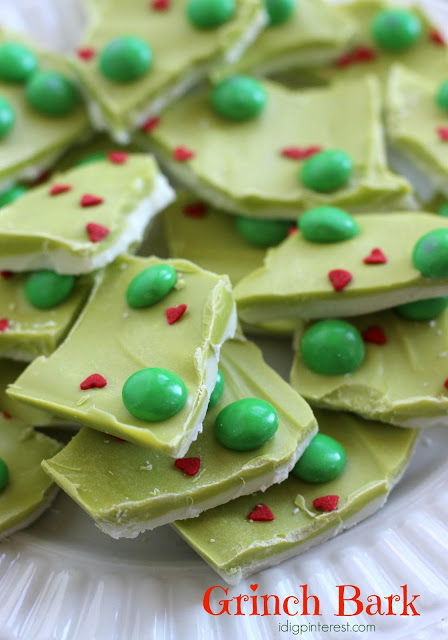 Grinch Bark | 25+ MORE Crafts and Cute Treats