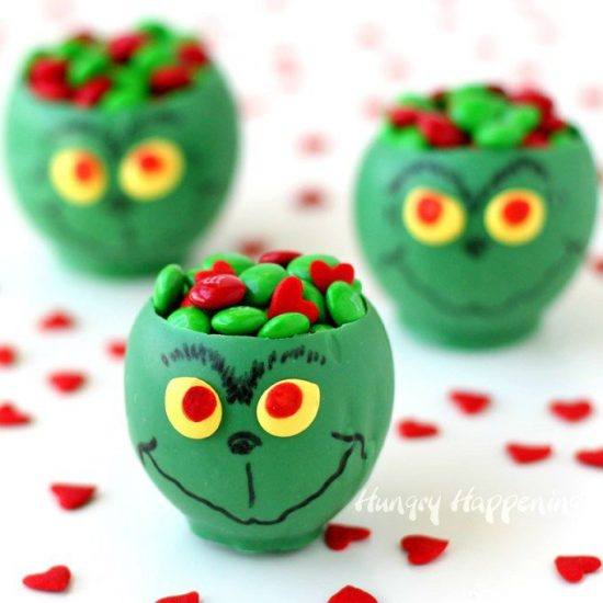 Grinch Candy Cups | 25+ MORE Grinch Crafts and Cute Treats
