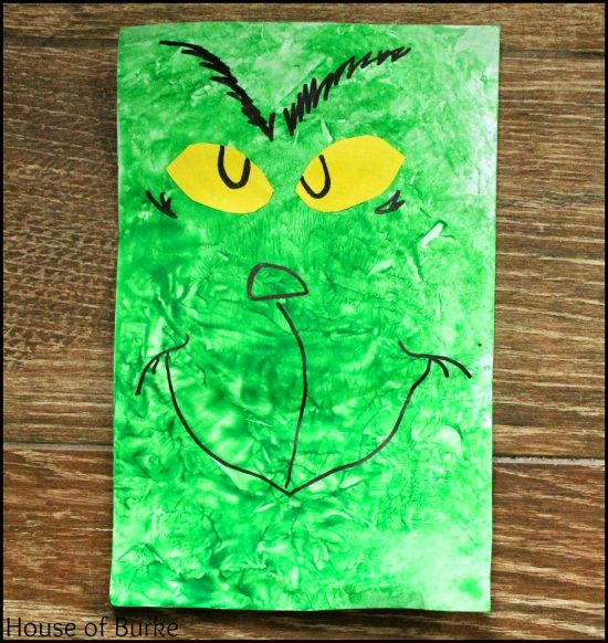 Grinch Sensory Bag Painting   25+ MORE Grinch Crafts and Cute Treats