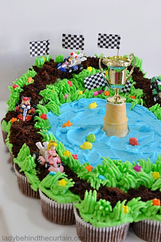 Mario Kart Cupcake Cake | 25+ Cupcake Birthday Cake Ideas & Cupcake Birthday Cake Ideas