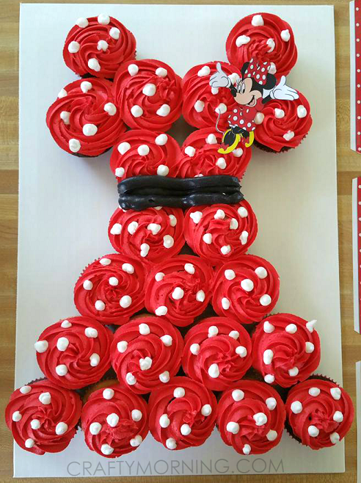 Minnie Mouse Cupcake Cake | 25+ Cupcake Birthday Cake Ideas