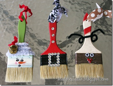 Paint Brush Ornaments | 25+ MORE Ornaments Kids Can Make