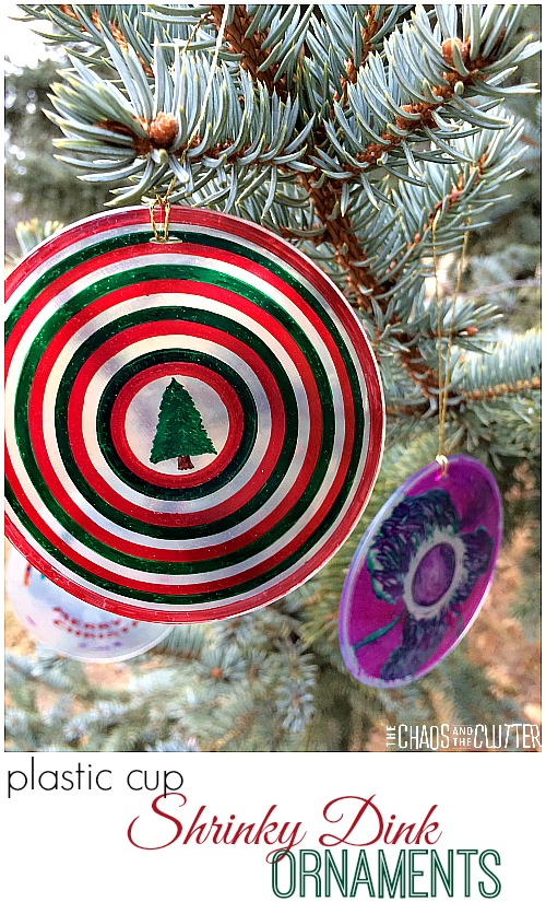 Plastic Cup Shrinky Dink Ornaments | 25+ MORE Ornaments Kids Can Make