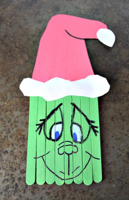 Popsicle Grinch | 25+ MORE Grinch Crafts and Cute Treats