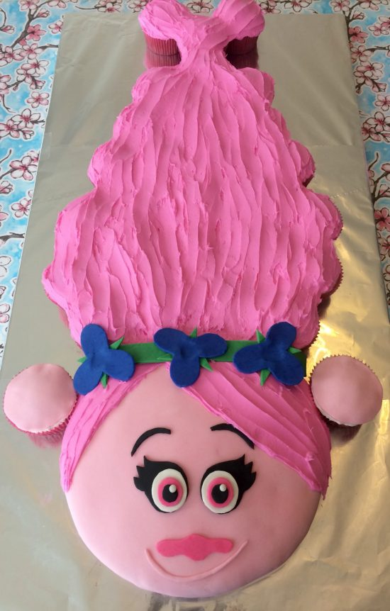 Princess Poppy Cupcake Cake | 25+ Cupcake Birthday Cake Ideas