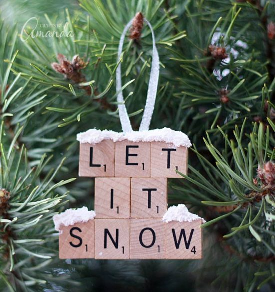 Scrabble Tile Ornament | 25+ MORE Ornaments Kids Can Make