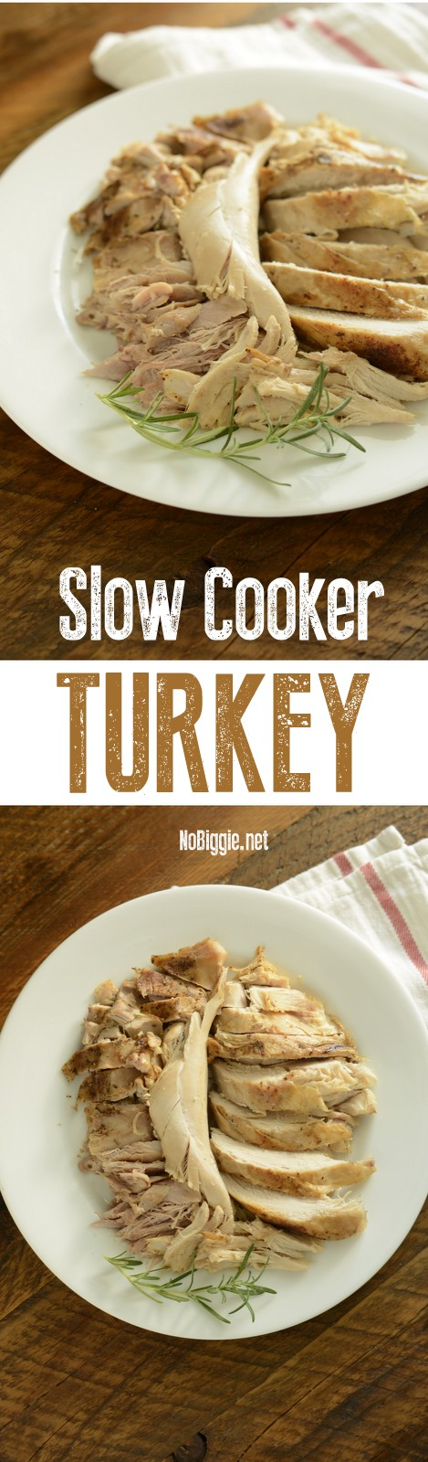 Slow Cooker Turkey - It's so dang good! Perfect for a small crowd! #slowcookerturkey #thanksgiving #crockpotmeals #easymeals #slowcooker #crockpot #turkey #turkeyrecipes