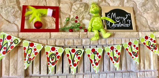 Whoville Banner | 25+ MORE Grinch Crafts and Cute Treats