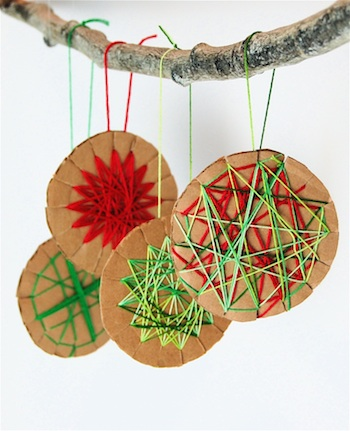 Woven Cardboard Ornaments | 25+ MORE Ornaments Kids Can Make