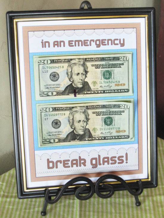In An Emergency Frame | 25+ MORE Creative Ways to Give Money