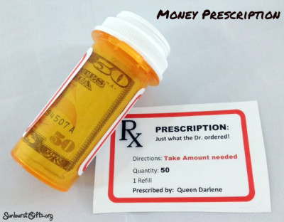 Money Prescription Bottle | 25+ MORE Creative Ways to Give Money