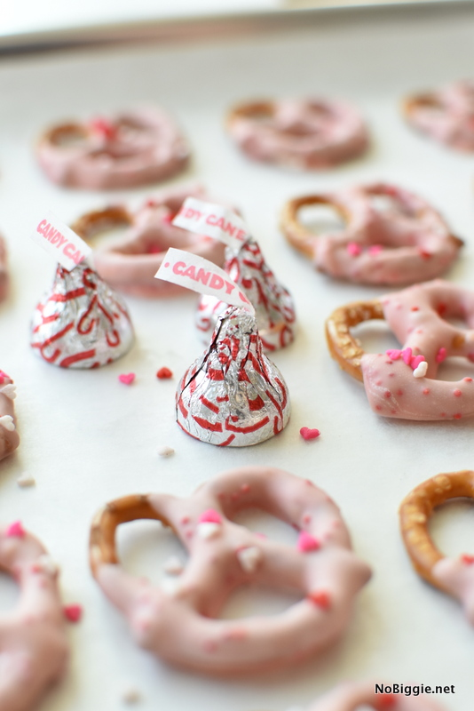 Candy Cane dipped pretzels