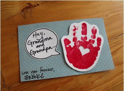 Handprint Valentine | 25+ Valentine Crafts for Kids