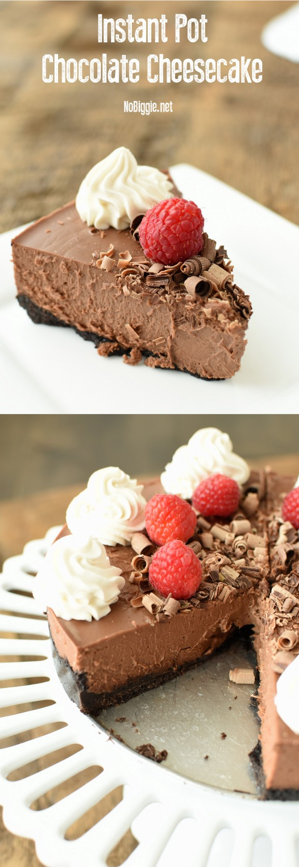 Instant Pot Chocolate Cheesecake | NoBiggie.net