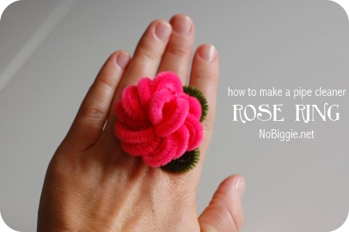 Pipe Cleaner Rose Ring | 25+ Valentine Crafts For Kids