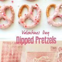 Valentine Dipped Pretzels