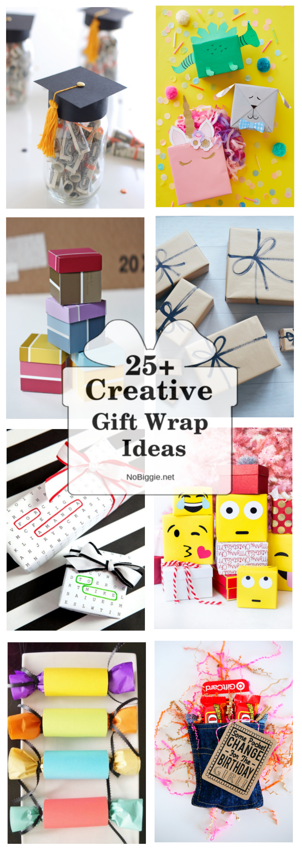 Creative Gift Wrap Ideas for all your gift wrap needs! # Creativegiftwrap #giftwrap #giftwrapideas #creativewrappingideas
