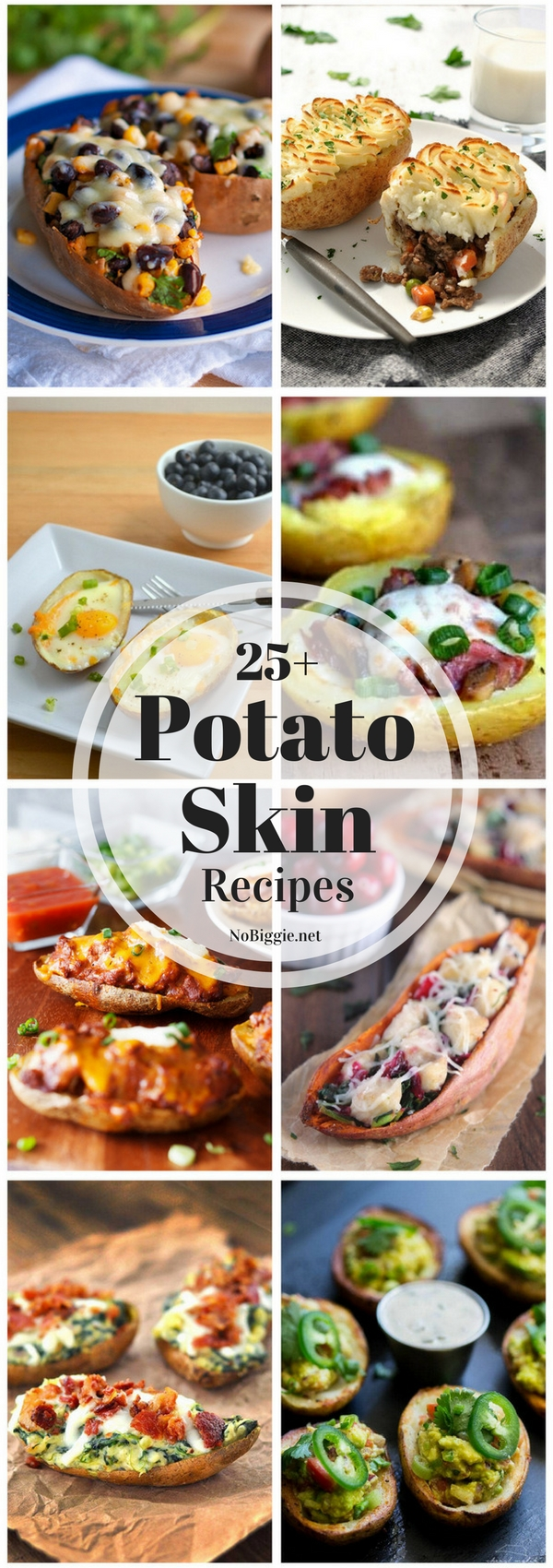 Potato skin recipes for all occasions, even breakfast! #potatoskinrecipes #potatoskins #potato #easyrecipes #appetizers